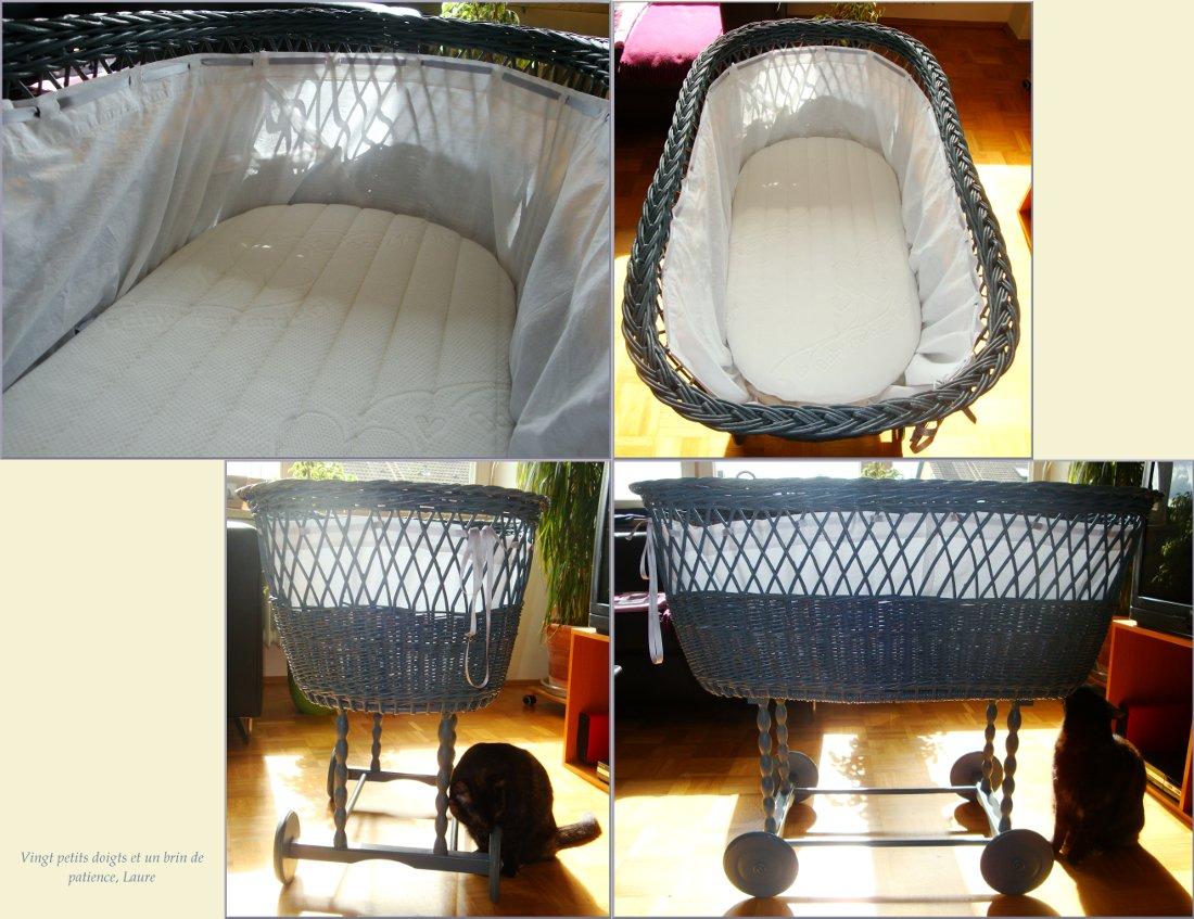 tour de lit pour le berceau vingt petits doigts et un brin de patience. Black Bedroom Furniture Sets. Home Design Ideas